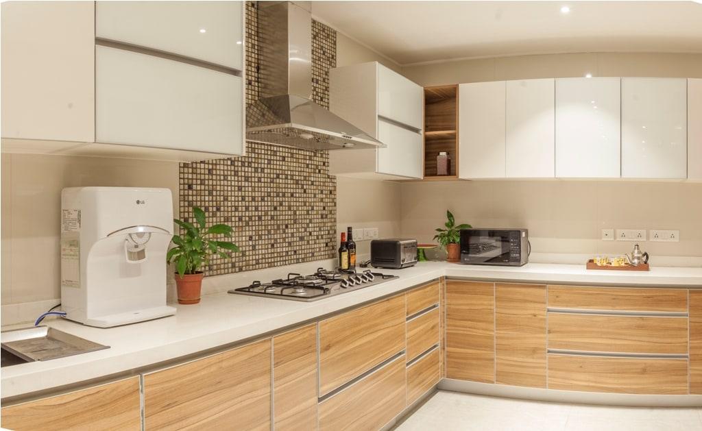 L Shaped Modular Kitchen by narayan moorthy Modular-kitchen Contemporary | Interior Design Photos & Ideas