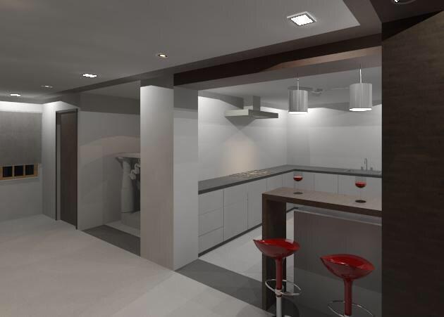 L shape Kitchen with white cabinets by Vatsal Hadvani Modular-kitchen Minimalistic | Interior Design Photos & Ideas