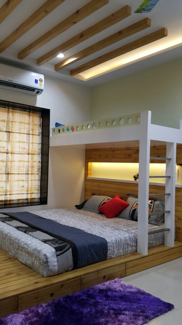 Bunkers Bed by Gajanan V Shetkar Modern | Interior Design Photos & Ideas