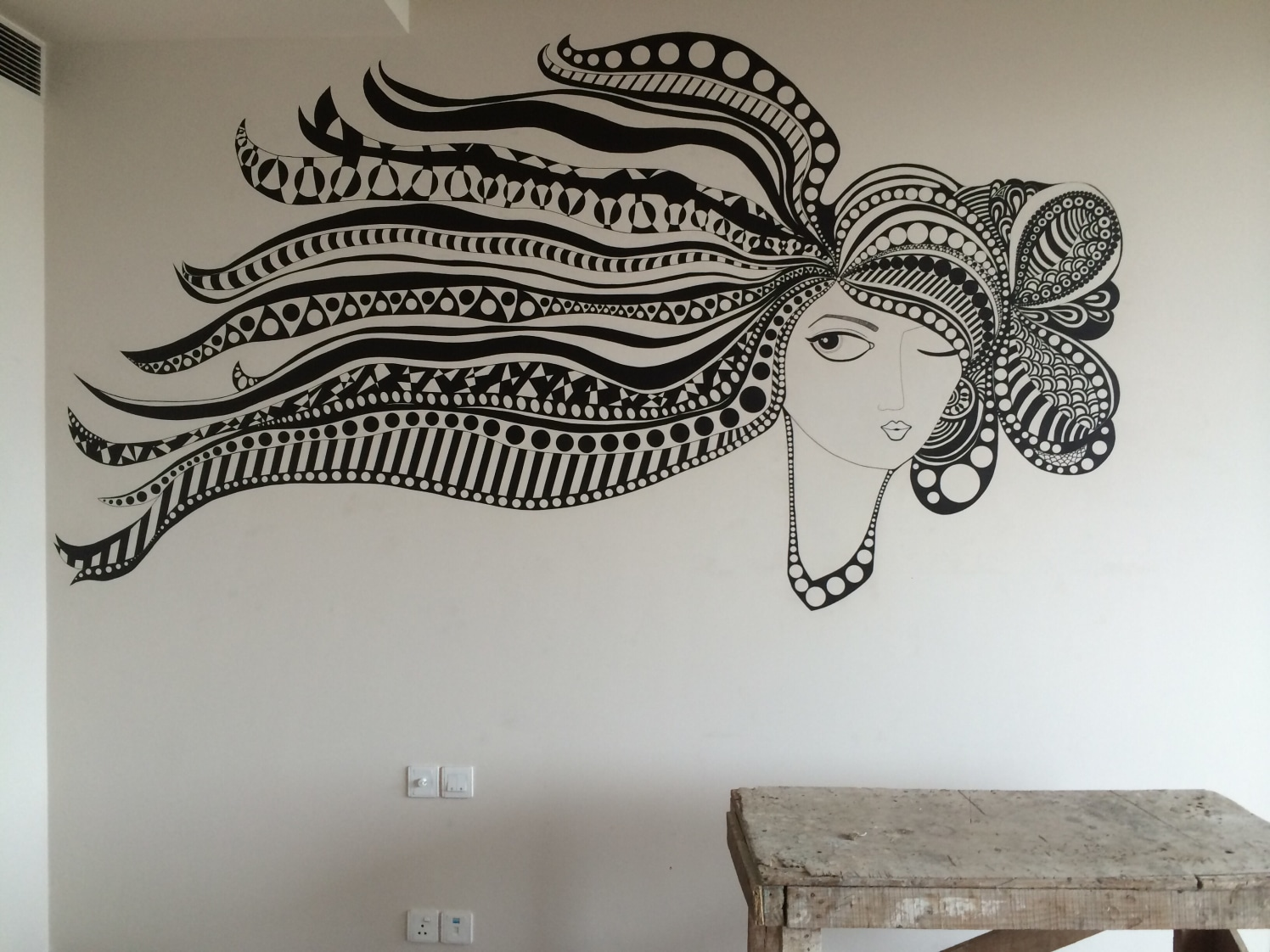 Doodle on the wall by Aakriti Chand
