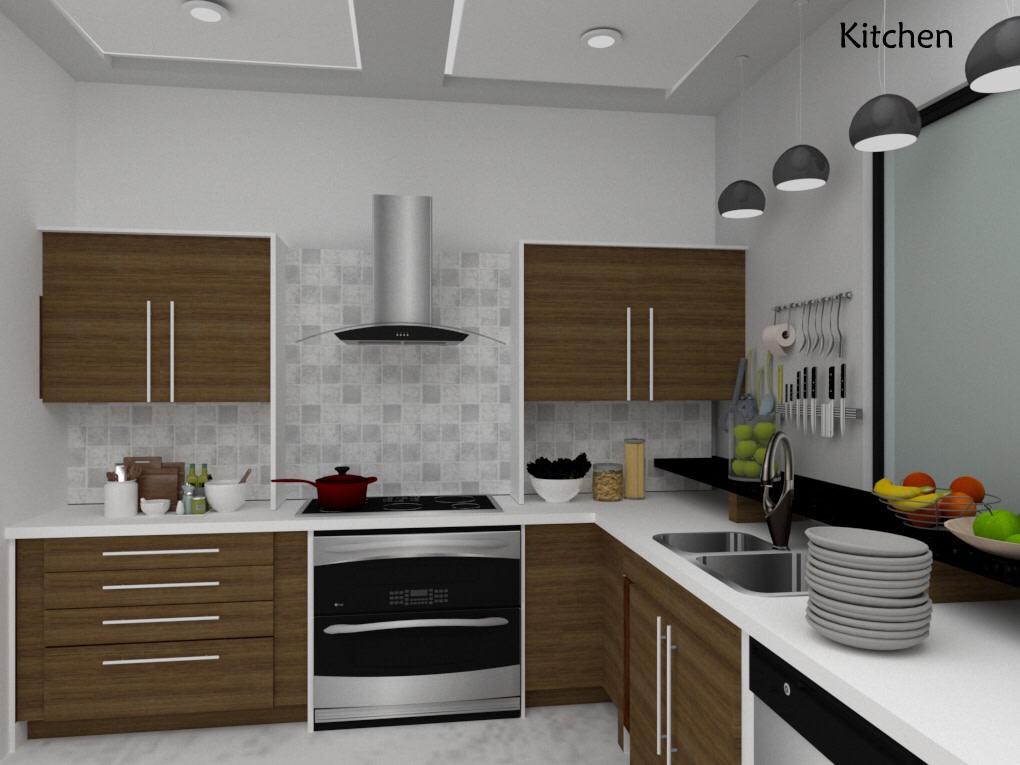 Modular kitchen design idea by Vinusha Raju Contemporary   Interior Design Photos & Ideas