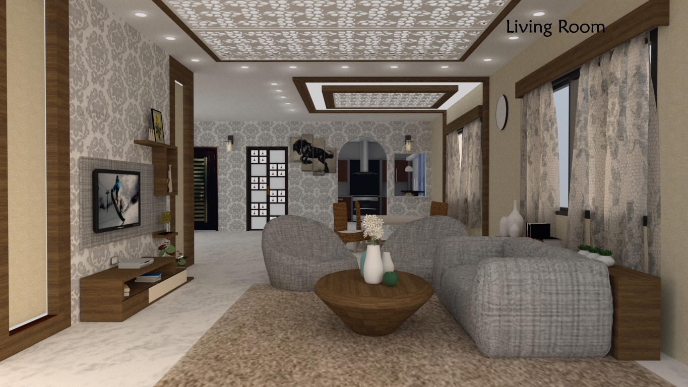 Living room design idea by Vinusha Raju Contemporary | Interior Design Photos & Ideas