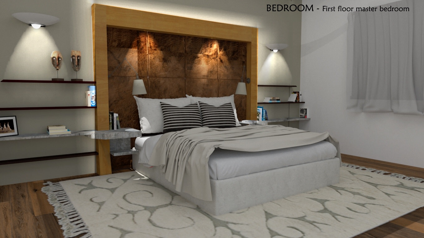 White and Brown done right by Vinusha Raju Contemporary | Interior Design Photos & Ideas