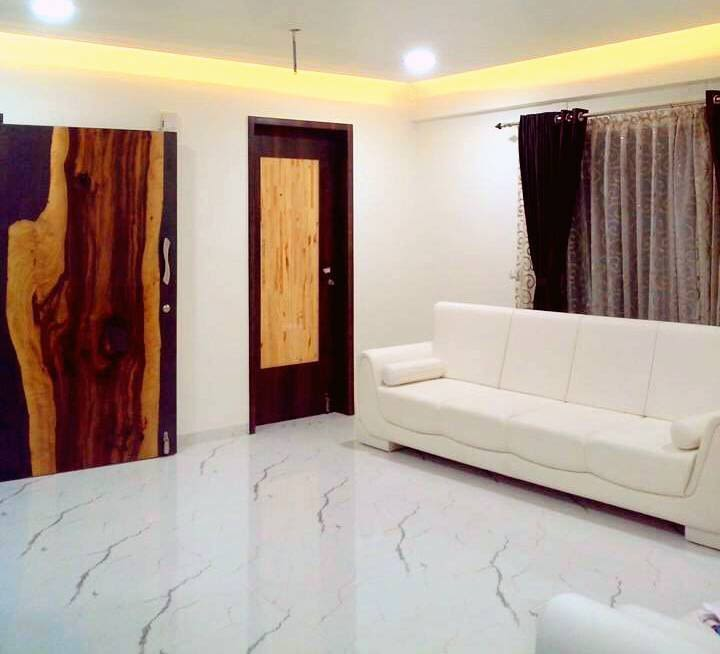 Minimalistic living room by Mahesh Shivaji Bhoskar