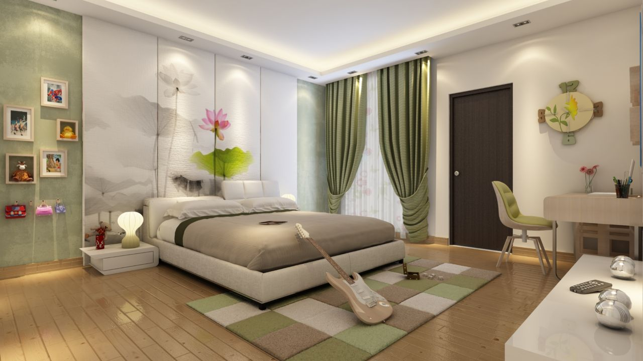 Neutral Tone Bedroom With White Low-Floor Bed by Ryan Associates Bedroom Modern   Interior Design Photos & Ideas