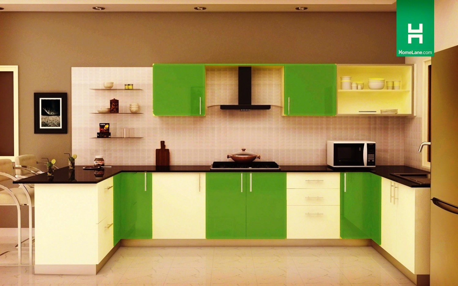 A Stunning Kitchen. by Amarjit Singh Modular-kitchen Modern | Interior Design Photos & Ideas