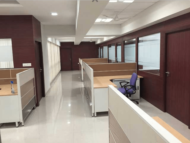 Office Corridor with Cubicle along hallaway by Roshan Ashta