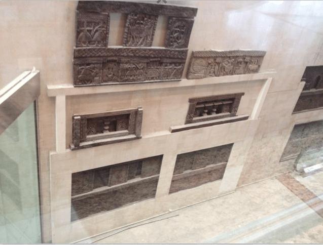 Facade with Traditional artisan claywork tiles by Roshan Ashta Contemporary | Interior Design Photos & Ideas