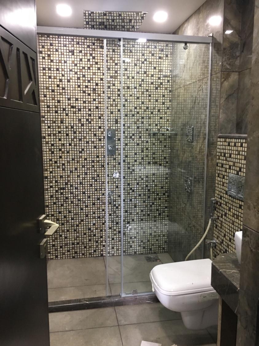 Glass Shower Enclosure by Dhwani Patel Bathroom Modern | Interior Design Photos & Ideas