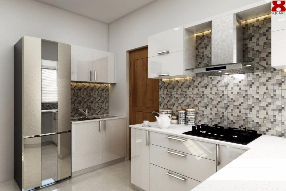 White Modular KitchenCabinets by Gijo George Modular-kitchen Contemporary | Interior Design Photos & Ideas