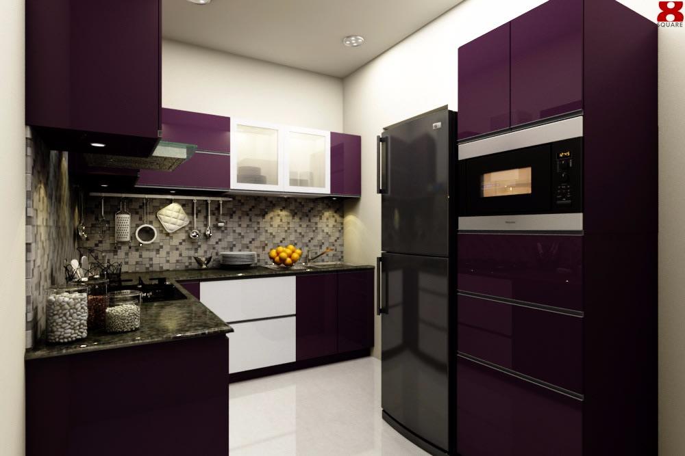 L Shaped Modular Kitchen by Gijo George Modular-kitchen Contemporary | Interior Design Photos & Ideas