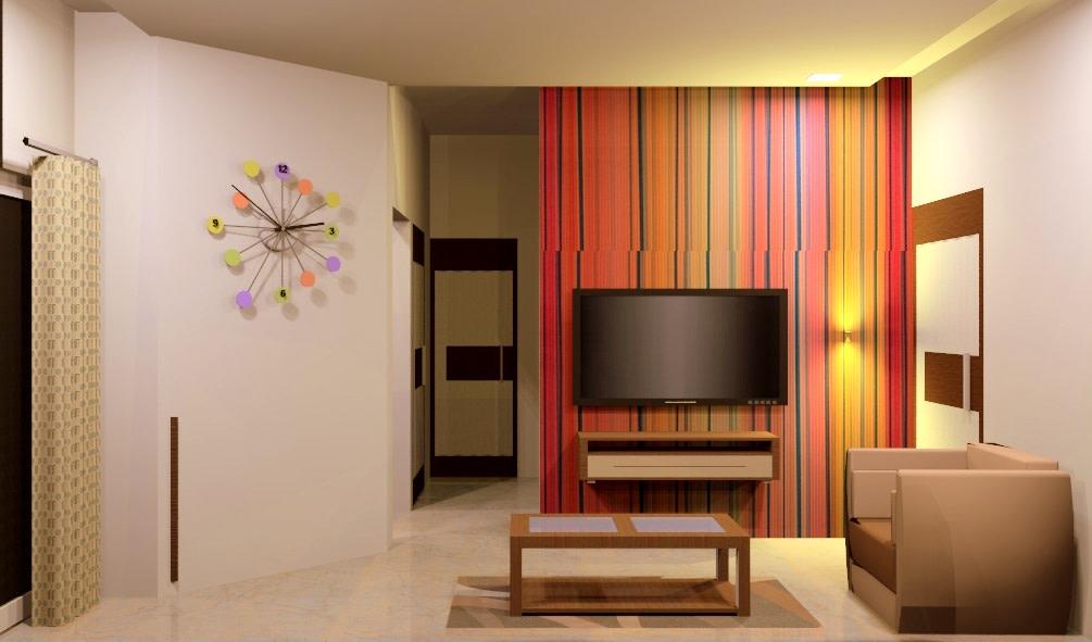 Colorful Living Room by Aishwarya Sagar Kadam Living-room Minimalistic | Interior Design Photos & Ideas