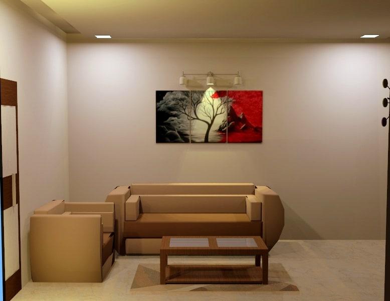 La Grange by Aishwarya Sagar Kadam Living-room Minimalistic | Interior Design Photos & Ideas