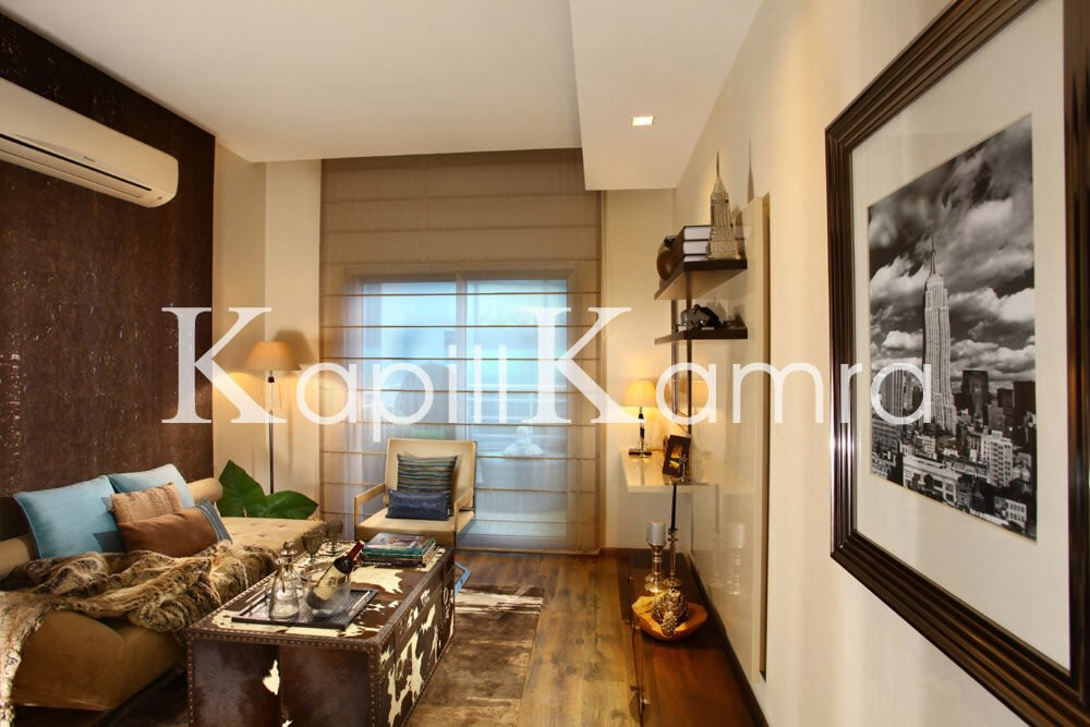 Cozy Living Room With Wooden Floor And Wall Art by Nikita Bonaparte Living-room Contemporary | Interior Design Photos & Ideas
