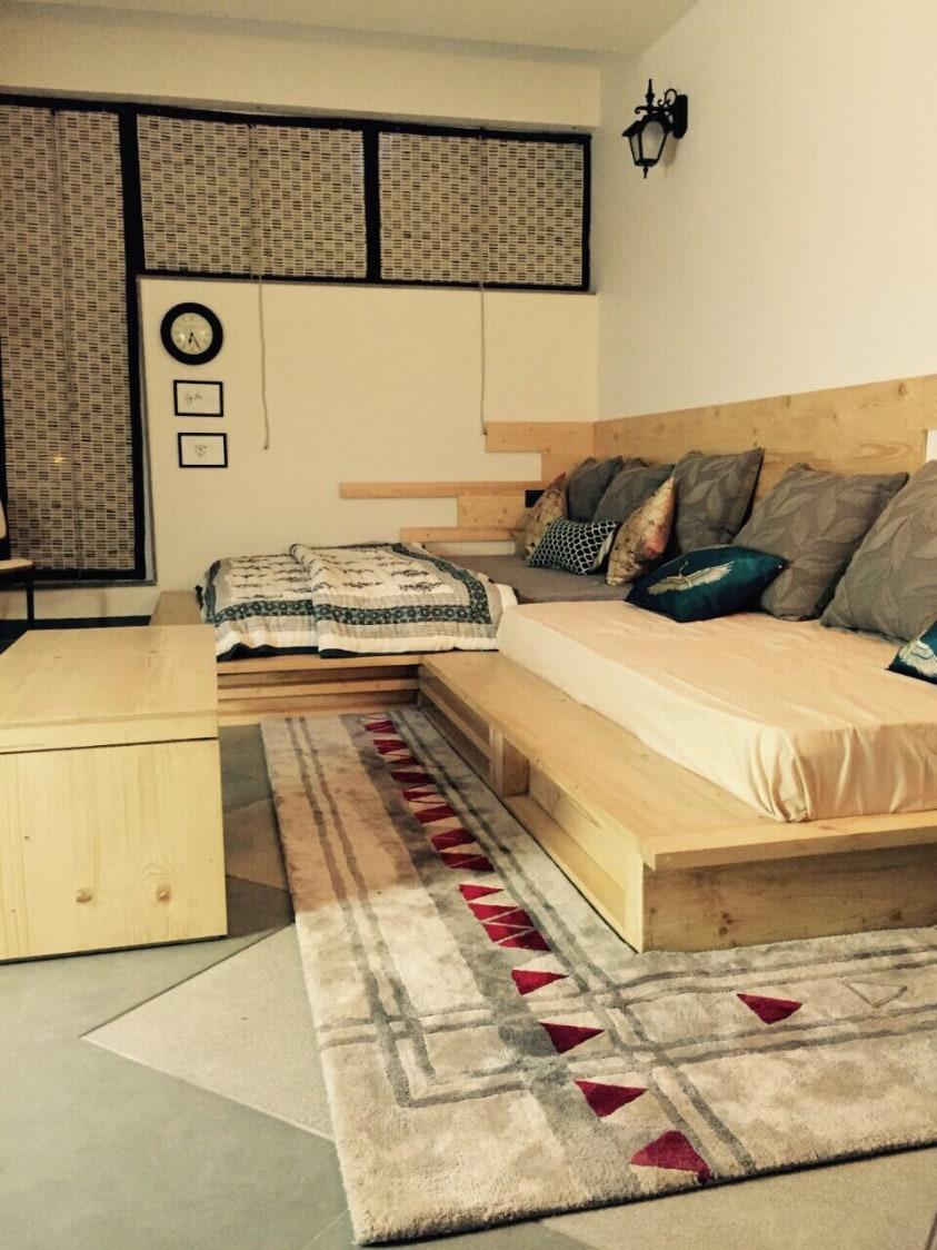 Minimalistic Living Room by Antarya Creations