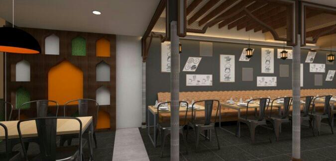 Cafe design by Ameer Tumbi Contemporary | Interior Design Photos & Ideas