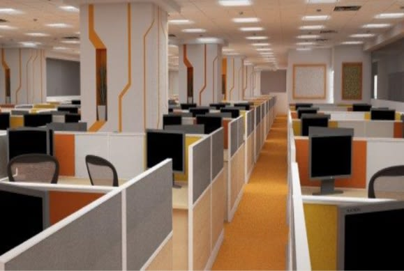 Open office space by Ameer Tumbi Modern | Interior Design Photos & Ideas