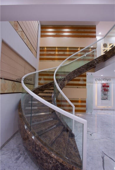 Staircase by Creative Architects and Interiors Contemporary | Interior Design Photos & Ideas