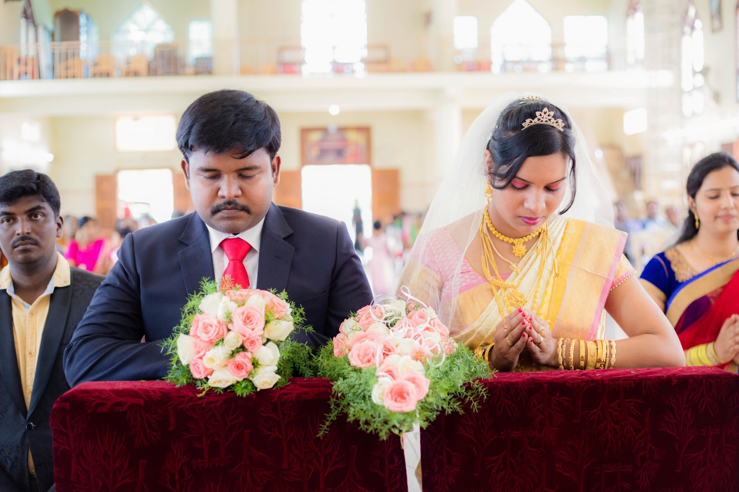 Christian Bride and Groom by Karthik Wedding-photography | Weddings Photos & Ideas