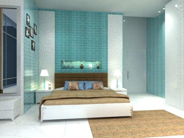 Bedroom With Rustic Blanket And Serene Ambience by Gunjan Mehrotra Bedroom Contemporary | Interior Design Photos & Ideas
