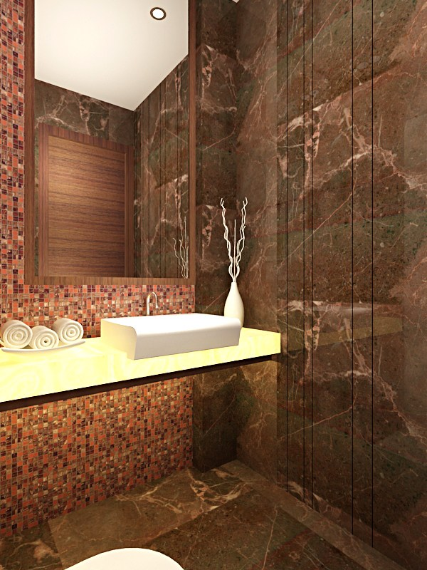 Royal Bathroom Interiors With Marble Finishing by Gunjan Mehrotra Bathroom Modern | Interior Design Photos & Ideas