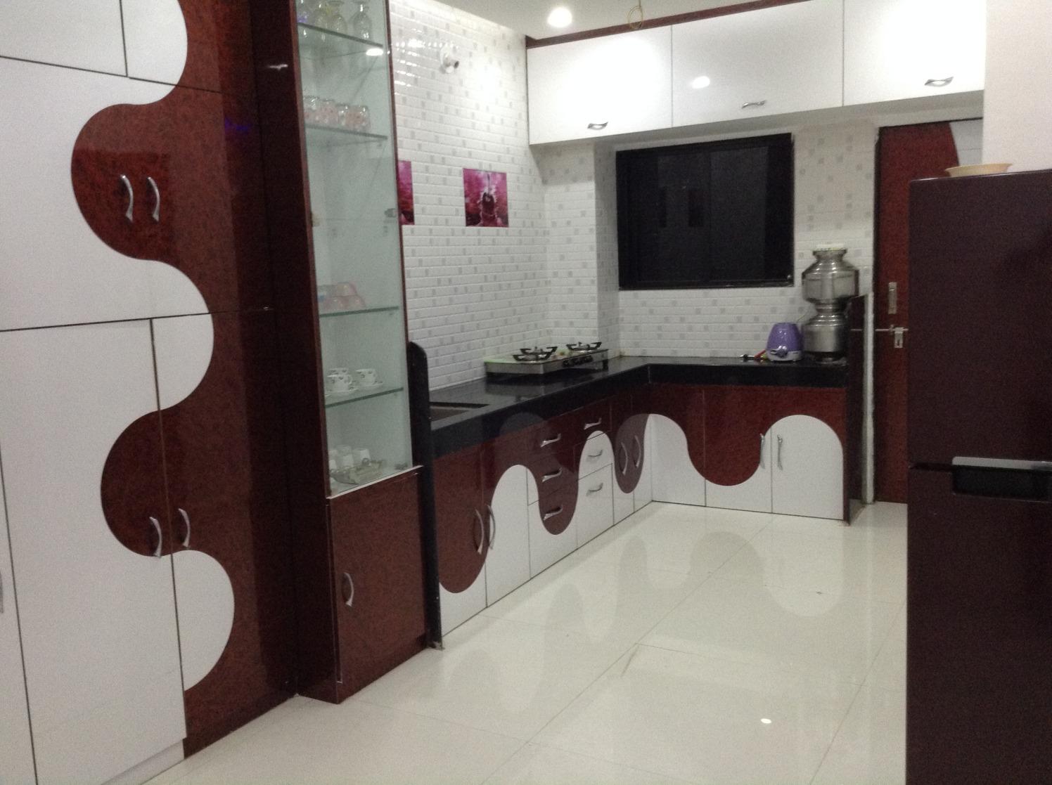 Curvy Flow by Siddhant Ashtekar Modular-kitchen Contemporary | Interior Design Photos & Ideas