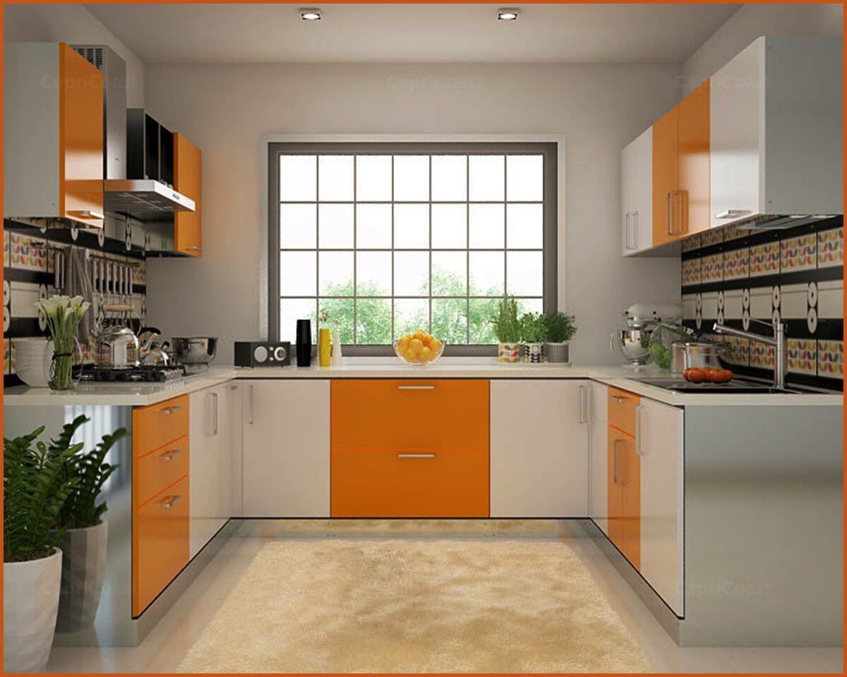 U Shaped Kitchen With Cabinets by nakul baghel Modular-kitchen Modern | Interior Design Photos & Ideas