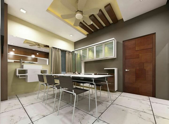 Dining Room With Dining Chair White Oak by nakul baghel Dining-room Modern | Interior Design Photos & Ideas