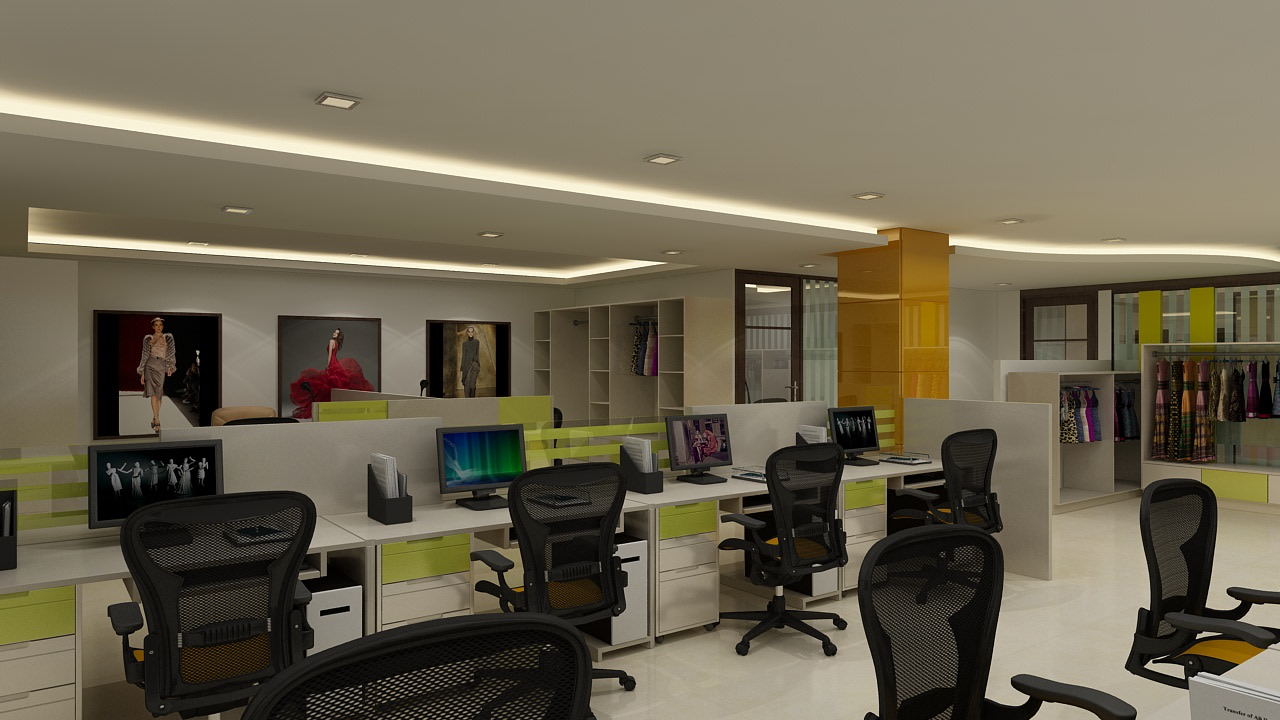 Modern office space by rohini yadav Modern | Interior Design Photos & Ideas