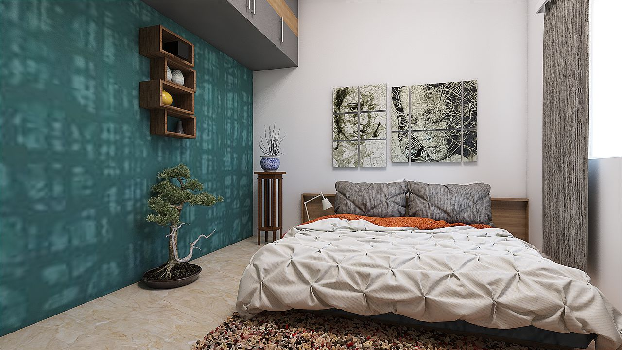 Messy Comfort by Sarath Sasi P Bedroom Modern | Interior Design Photos & Ideas