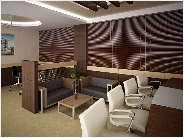 Office Space With Wooden Furnishing by Ashish Singh Contemporary | Interior Design Photos & Ideas