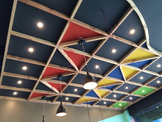 False ceiling by Ashish Singh Living-room Contemporary | Interior Design Photos & Ideas