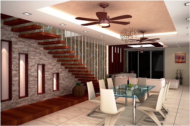 Dining Area With Glass Table And Designer Chair by Ashish Singh Dining-room Contemporary | Interior Design Photos & Ideas