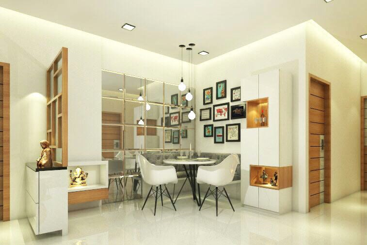 Living area by Chetna Vijay Yadav Dining-room Contemporary | Interior Design Photos & Ideas