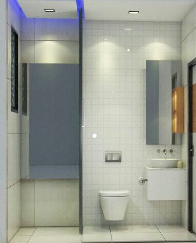 Pale Shade Tiles In Western Style Bathroom by Chetna Vijay Yadav Bathroom Contemporary | Interior Design Photos & Ideas