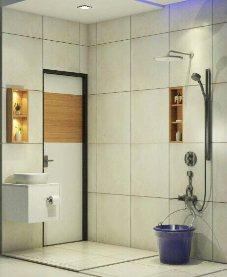 Washroom shot by Chetna Vijay Yadav Bathroom Contemporary | Interior Design Photos & Ideas