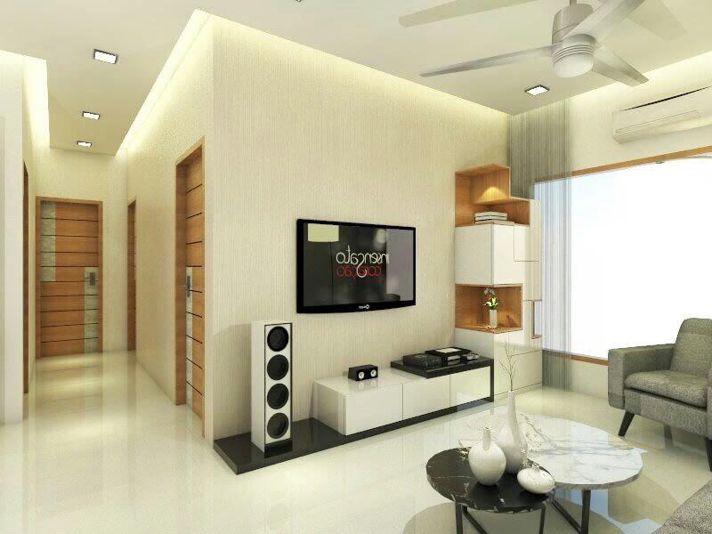 Contemporary living area by Chetna Vijay Yadav Living-room Contemporary | Interior Design Photos & Ideas