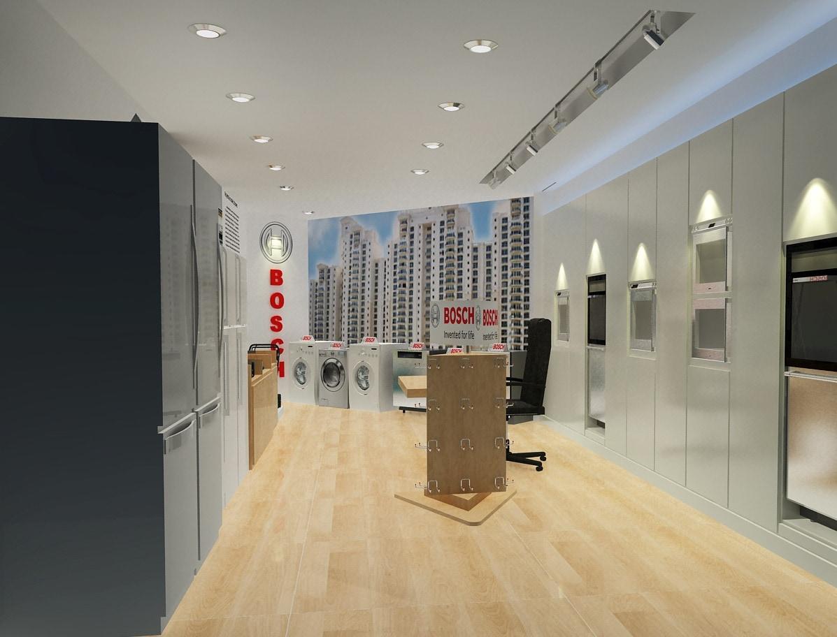 Modern Showroom Style by Sami Mohiuddin Ansari Modern   Interior Design Photos & Ideas