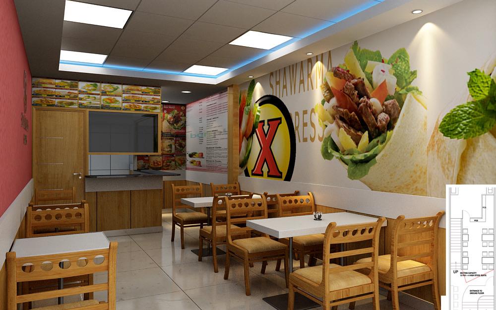 Cafe space by Sami Mohiuddin Ansari Modern | Interior Design Photos & Ideas