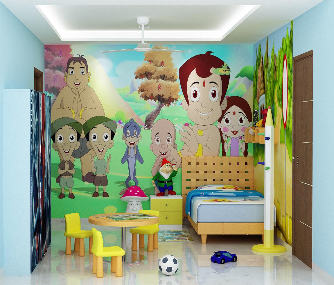 3D kids bedroom design by Sami Mohiuddin Ansari Bedroom Contemporary | Interior Design Photos & Ideas