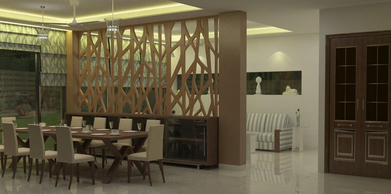 Dining area design by Sami Mohiuddin Ansari Dining-room Contemporary | Interior Design Photos & Ideas