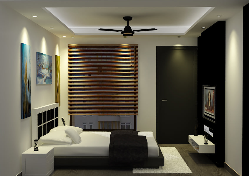 3D bedroom design by Sami Mohiuddin Ansari Bedroom Contemporary | Interior Design Photos & Ideas