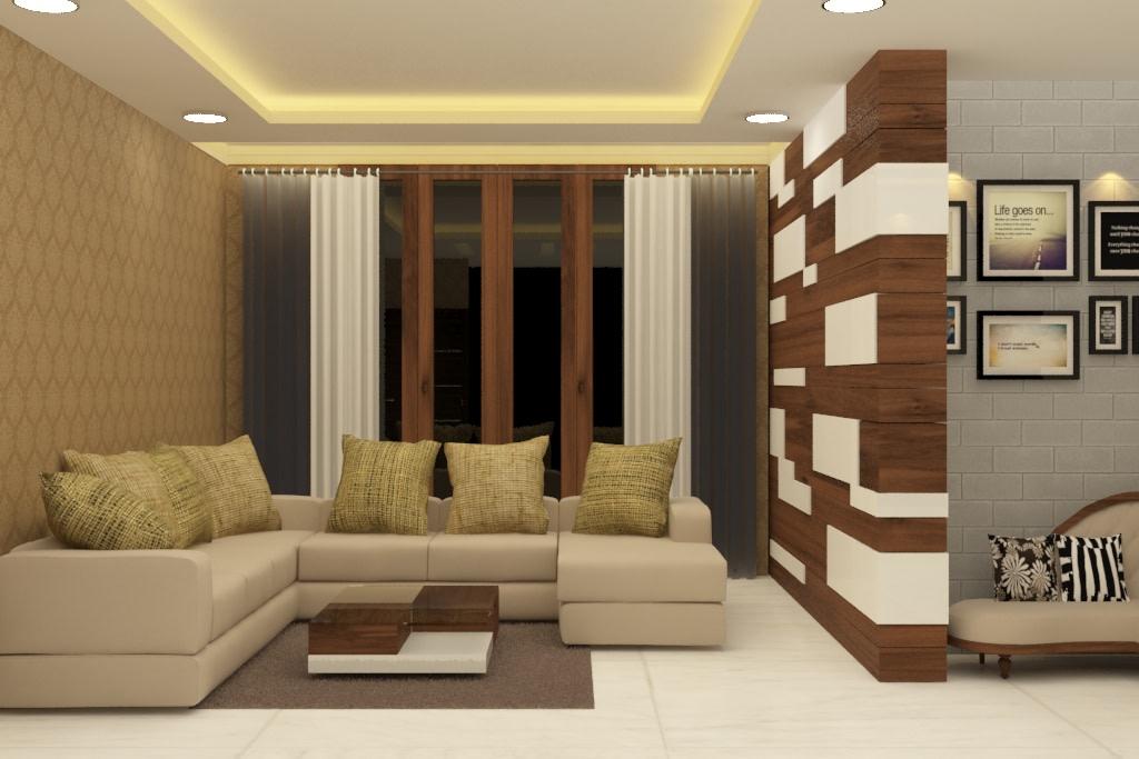 Pastel Living by Rashid Khan Living-room Modern | Interior Design Photos & Ideas