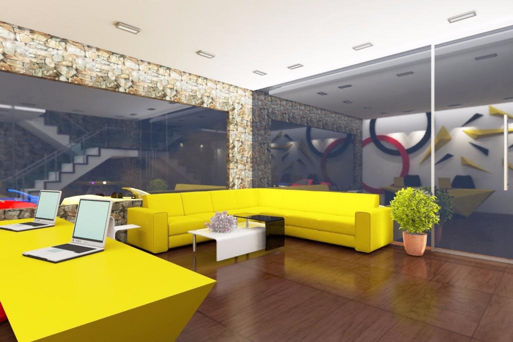 Yellow Streak by Rashid Khan Modern | Interior Design Photos & Ideas