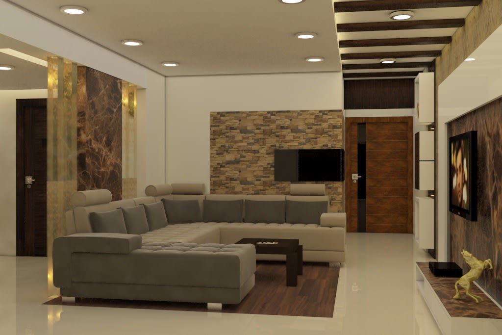 Sleek And Dynamic by Rashid Khan Living-room Modern   Interior Design Photos & Ideas