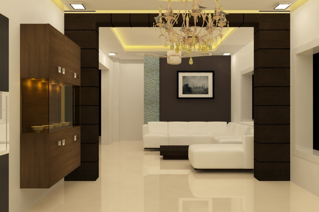 Chocolate And White by Rashid Khan Living-room Modern | Interior Design Photos & Ideas