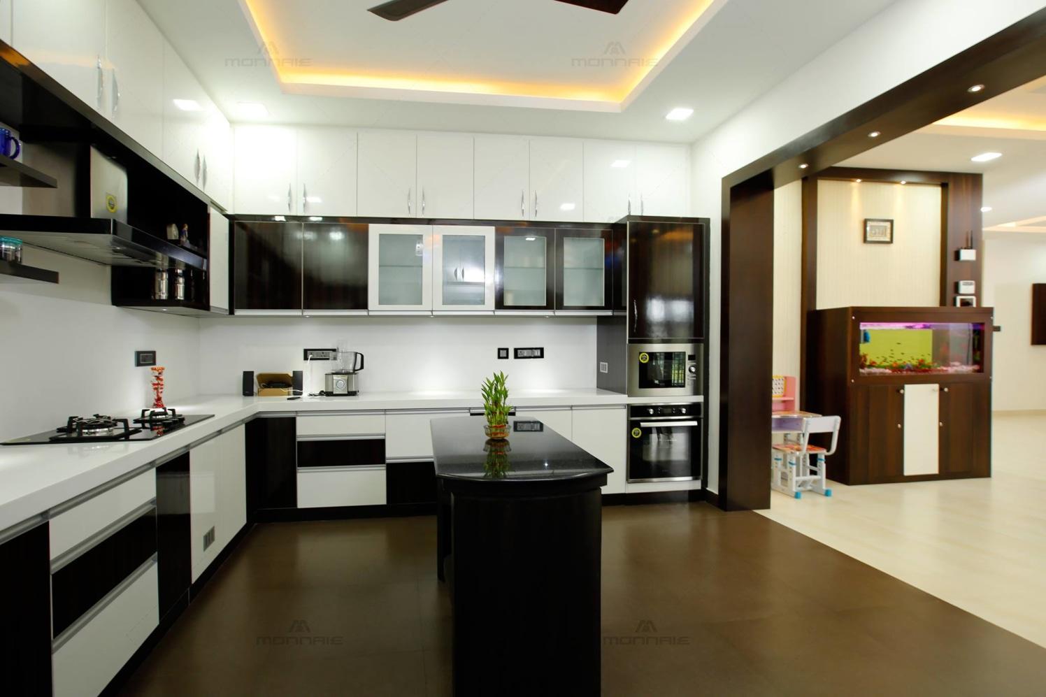 Modern modular L shaped kitchen by Monnaie Architects Modular-kitchen Modern | Interior Design Photos & Ideas