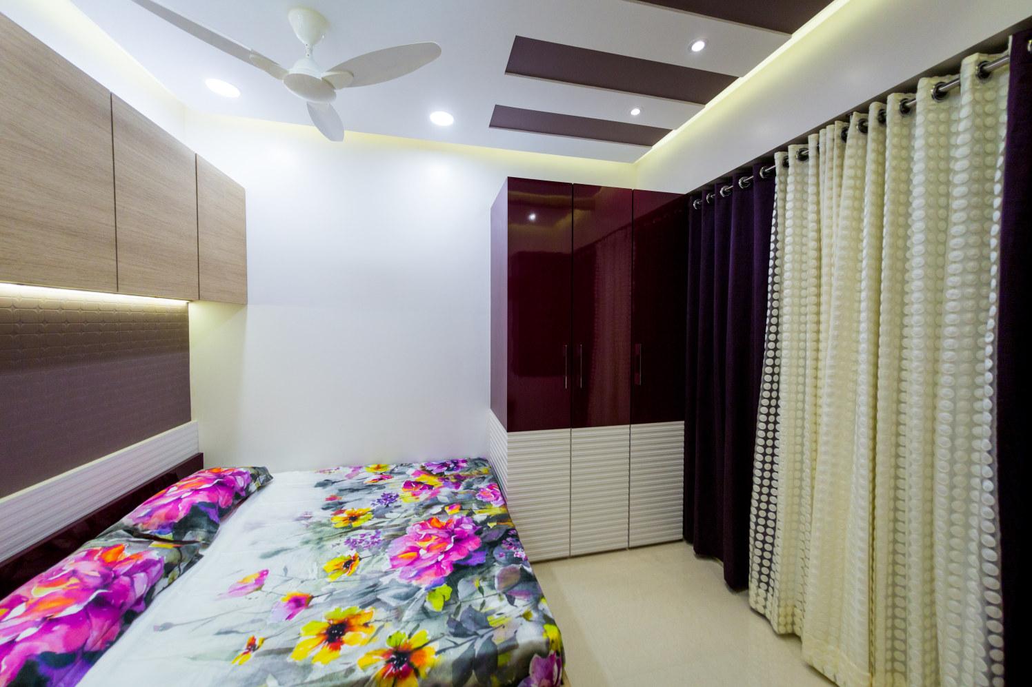 Bedroom With Wooden Head Cover by Yogesh Bedroom Contemporary | Interior Design Photos & Ideas
