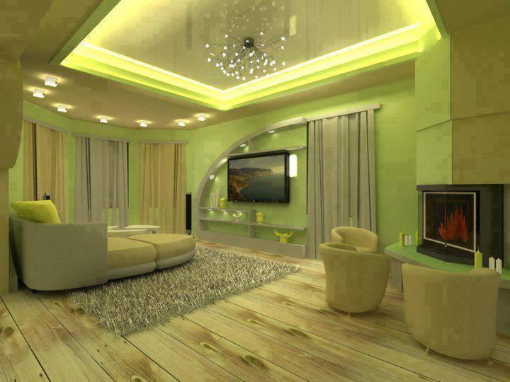 Pistachio Shaded Living Room by JS Interior Decorator & Designer Living-room Contemporary | Interior Design Photos & Ideas