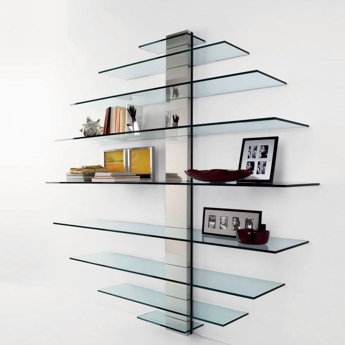 Steel Finished Display Stand With Glass Racks by Mauve & Crimson Interior Solutions Living-room Modern | Interior Design Photos & Ideas